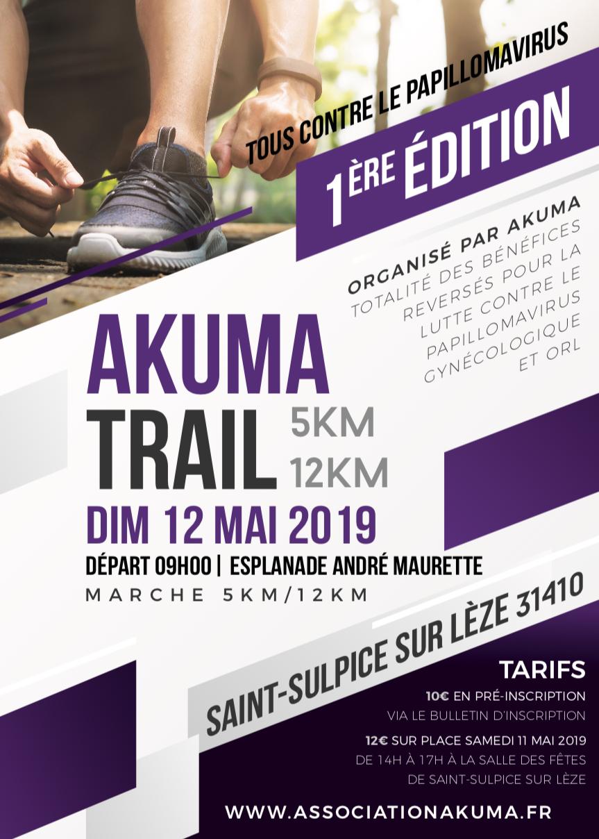 Bulletin d'inscription Akuma Trail Association Akuma